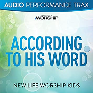 According to His Word (feat. Jared Anderson) [Audio Performance Trax]