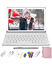 Tablet 10.1 Pollici DUODUOGO, Tablet PC 4G LTE Android 9.0 Certificato da Google GMS, 4 GB RAM 64 GB ROM Quad Core Tablet con Tastiera, WIFI| Dual SIM| GPS| OTG| 8000mAh| Doppia Fotocamera, Rosa