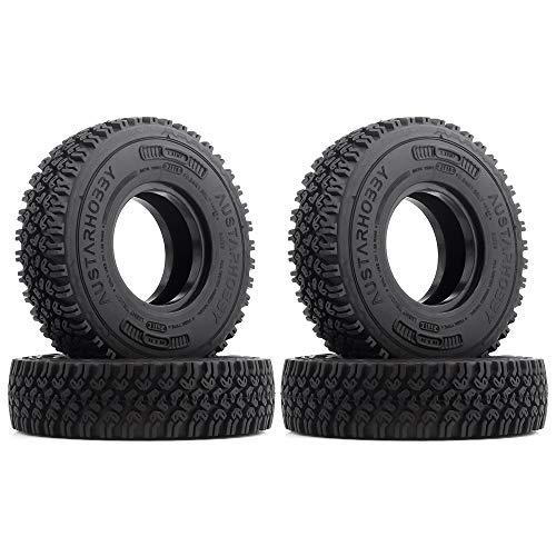 INJORA RC Reifen 4 Stücke 1,55 RC Crawler Reifen Reifen Set für 1:10 RC Crawler MST JIMNY Axial AX90069 D90 TF2 Tamiya CC01 LC70