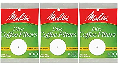 White Disc Coffee Filter, 100 Count (Pack of 3)