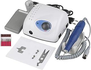 Elektrische Nagelboor, 65W Sterke 210 105L Machine Nagelvijl Acryl Gel Nail Grinder Tool RPM35000 (Wit)