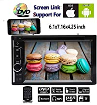 6.2 inch Car Stereo CD DVD USB Connect Mirro Link from Phone Bluetooth HD Touch Screen FM/AM Radio for Toyota Corolla Camry Sienna Pickup 1986-2006