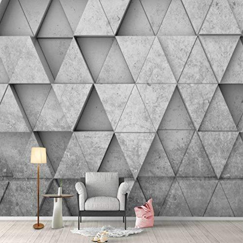 QSW 3D Stereoscopic Grey Geometric Triangle Hintergrund Wallpaper Wandbild Wohnzimmer Schlafzimmer Tapeten Home Decor,100cm(W) x70cm(H)