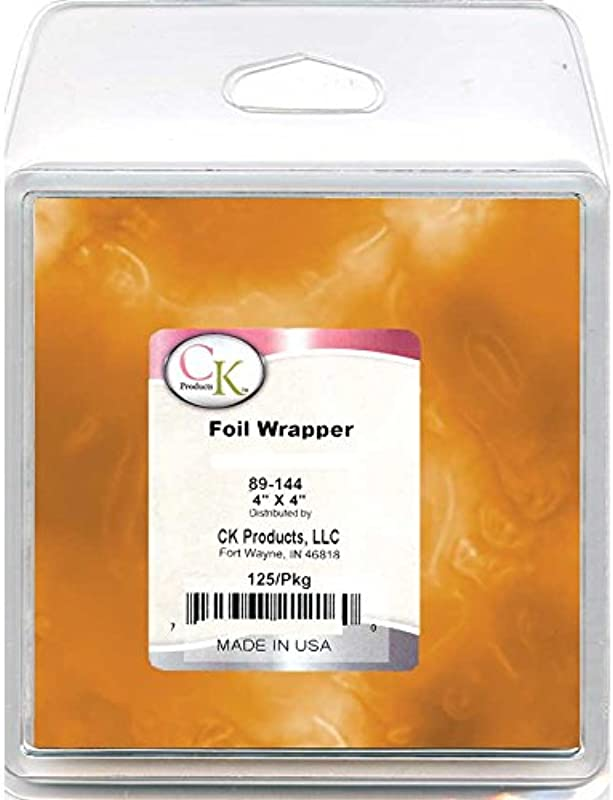 CK Products 89 144G Foil Wrappers 4 X 4 Orange