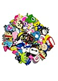 50 Pcs Different Shoe Charms for Croc Shoes & Bracelet Wristband Kids Party Birthday Gifts - Decoración de zapatos Mix color