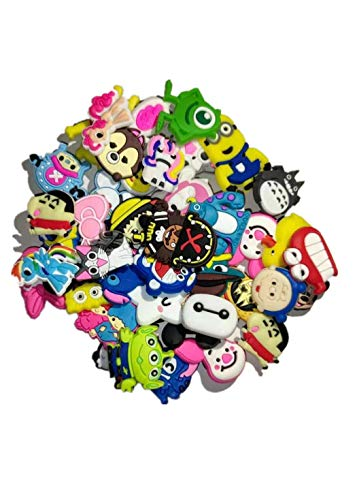50 Pcs Different Shoe Charms for Shoes & Bracelet Wristband Kids Party Birthday Gifts
