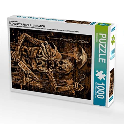 CALVENDO Puzzle BLOODBOY/Creepy Illustration 1000 Teile Lege-Größe 48 x 64 cm Foto-Puzzle Bild von Tobias Huber