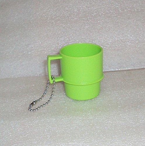 Tupperware Mini Multi Mug Coffee Cup Keychain Lime Green