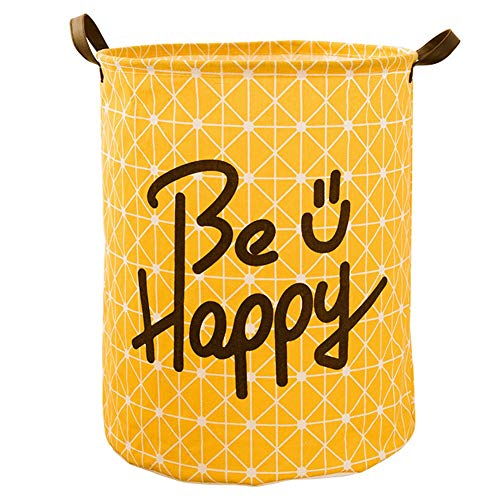Heding Dirty Laundry Hamper Sorter Basket Dirty Clothes Bag Storage Basket Dirty Clothes Bin Box Large Cotton And Linen Waterproof Foldable Toy (Color : Yellow, Size : 40 * 50cm)
