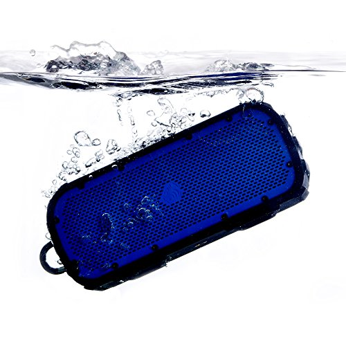 TimoLabs TM-BT003S-2016C-BL, Corbett I S (2nd Gen), Rugged and Water-Proof Wireless Bluetooth Speaker - Blue