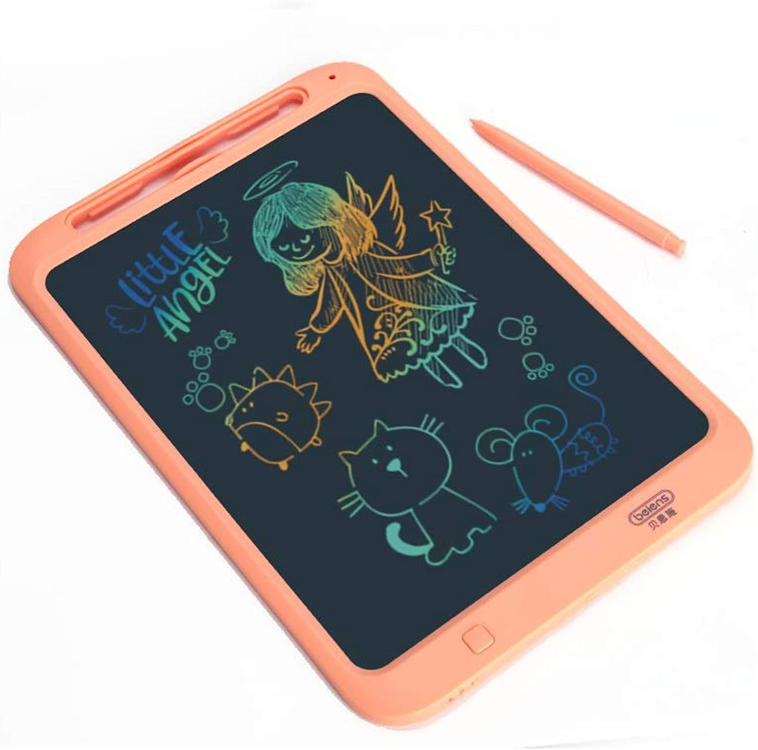Huijunwenti Smart LCD Sketchpad, Graffiti Painting Small Blackboard, Electronic Draft Puzzle Tablet, bluee, orange Sketchpad (color   orange)