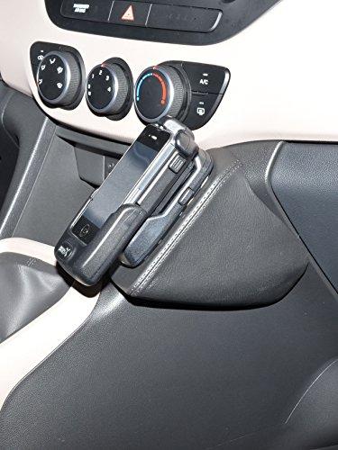 KUDA 1415 Halterung Kunstleder schwarz für Hyundai i10 (2. Gen) ab 11/2013 (ohne Klappe)