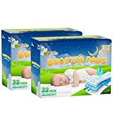 Naturally Nature Overnight Diaper Doubler Booster Pads with Adhesive for Pull-on & Regular Diapers | Nighttime Leak Protection for Heavy Wetters and Active Sleepers, for Boys & Girls