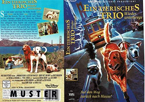 Ein tierisches Trio wieder unterwegs - VHS-Einleger A4 - ohne Cassette/Hülle