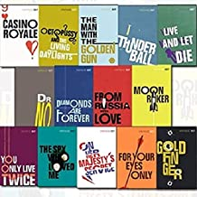 Vintage 007 James Bond 14 Books Collection Set By Ian Fleming (Casino Royal, Live And Let Die, Moon Raker, Diamonds Are Fo...