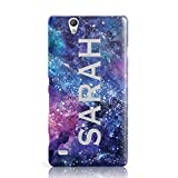 Dyefor PERSONALISED CLEAR NAME CUTOUT SPACE NEBULA CUSTOM