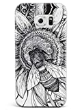 Inspired Cases - 3D Textured Galaxy S7 Case - Rubber Bumper Cover - Protective Phone Case for Samsung Galaxy S7 - Sunflower & Bee - Sketch - White
