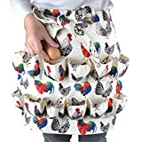 Eggs Collecting Gathering Holding Apron for Chicken Hense Duck Goose Eggs Housewife Farmhouse Kitchen Home Workwear (Adult-Unisex)
