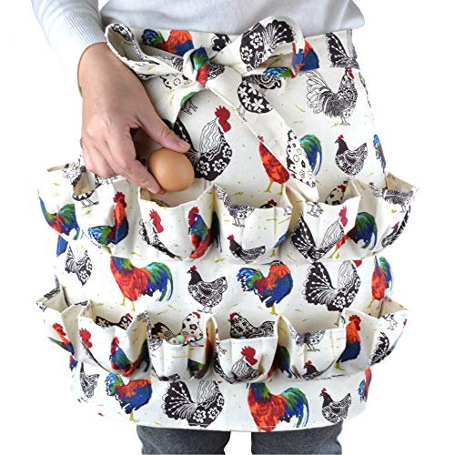 Eggs Collecting Gathering Holding Apron for Chicken Hense Duck Goose Eggs Housewife Farmhouse Kitchen Home Workwear (Adult)