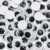Toaab 30 piezas 35 mm ojos moviles adhesivos adhesivos de plástico Wiggle redondos negro blanco arte...