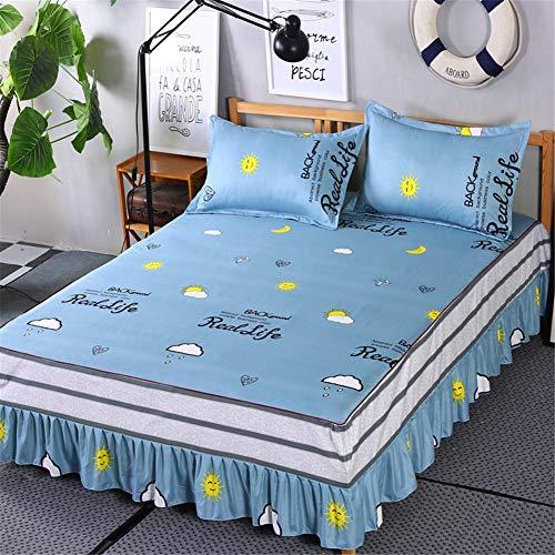 La Mode Single Rock voor babybed, extra diep, ruches, voor lattenbodem, bed, stofbescherming, antislip, voor slaapkamer, slaapzaal, enz.