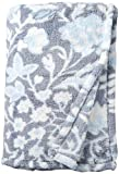 Vera Bradley womens Fleece Plush Shimmer Throw Blanket D cor, Frosted Lace, 80 x 50 US