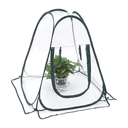 Oumij1 Tragbares Gewächshauszelt Mini Waterproof Garden Plants & Flowers Cover Zelt Transparentes PVC-Gewächshaus