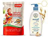 Product 1: Non Toxic - made from 100% food grade ingredients Product 1: Removes pesticide residues on fruits, vegetables, feeding bottles & accessory Product 1: No artificial colours Product 1: Biodegradable Product 2: Aveeno Baby Daily Moisturising ...
