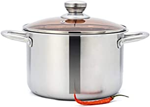 LJBH Stock Pot, 304 Stainless Steel 24CM Thick Stock Pot, Deepened Thick Gas Cooker Universal high quality (Color : Silver...
