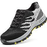 Zapatos de Seguridad para Mujer Zapatillas Zapatos de Hombre Seguridad de Acero Ligeras Calzado de Trabajo para Comodas Unisex Zapatos de Industria y Construcción 115-Gris 36