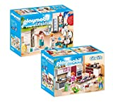 Playmobil City Life Set en 2 parties 9268 9269 Bagno accessoriato + Grande Cucina Attrezzata