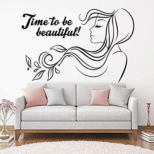 Vinilos Decorativos Belleza Inspiradora Peluquería Mujer 64X42Cm
