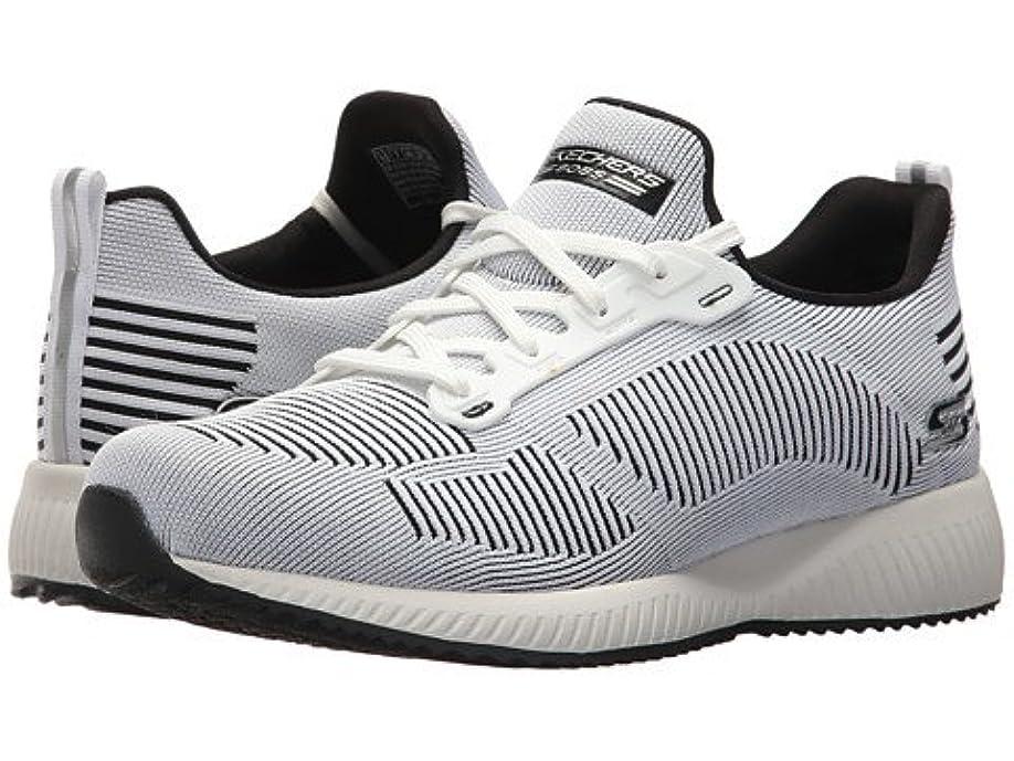 ティッシュスリップ拡声器(スケッチャーズ) SKECHERS レディーススニーカー?ウォーキングシューズ?靴 Bobs Squad - Twinning White/Black 6 23cm B - Medium [並行輸入品]