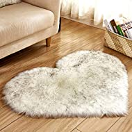 TAOtTAO Wool Imitation Sheepskin Rugs Faux Fur Non Slip Bedroom Shaggy Carpet Mats (D)