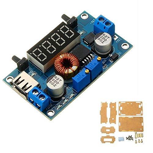 MING-MCZ Duradero Módulo de Fuente de alimentación de Corriente Constante de Voltaje Constante con Pantalla y Shell DC 5-36V a DC 1.25-32V 5A Fácil de Montar