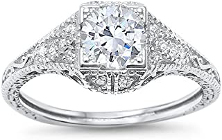 Best antique filigree engagement rings Reviews