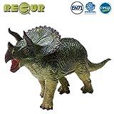 RECUR Giocattoli del Dinosauro del triceratopo, Giocattolo del Dinosauro Dipinto a Mano Di...