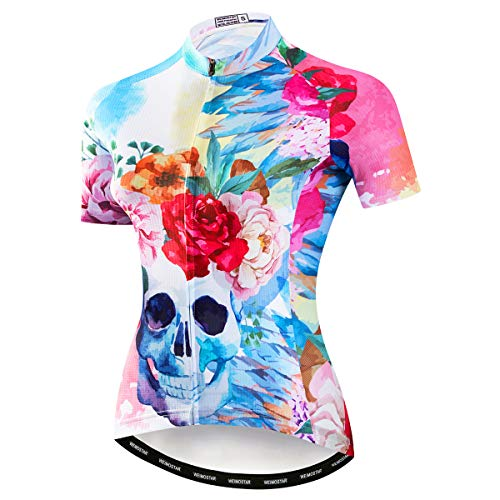 weimostar Camiseta de ciclismo de verano para mujer de manga corta, Mujer, 3 (Reino Unido), For Chest 38.8-41.7'=Tag XL