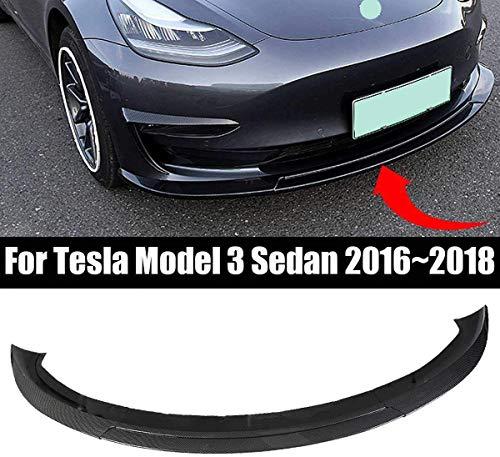 HOUGE Spoiler Frontal Spoiler Frontal Labio rodeado de Accesorios Decorativos anticolisión modificados para Tesla Model 3 2016-2019, BlackPaint, Look