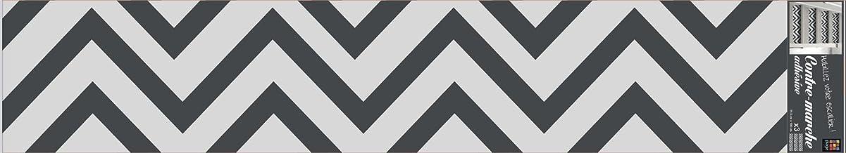 PLAGE STAIRS Trappen Stickers bedrukt beige Sparren3 x [100 x 19 cm], Vinyl, grijs, 100 x 0,1 x 19 cm, 3 stuks