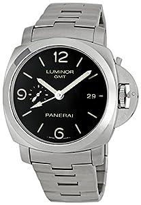 Panerai Men's M00329 Steel Luminor 1950 GMT Black Dial Watch image