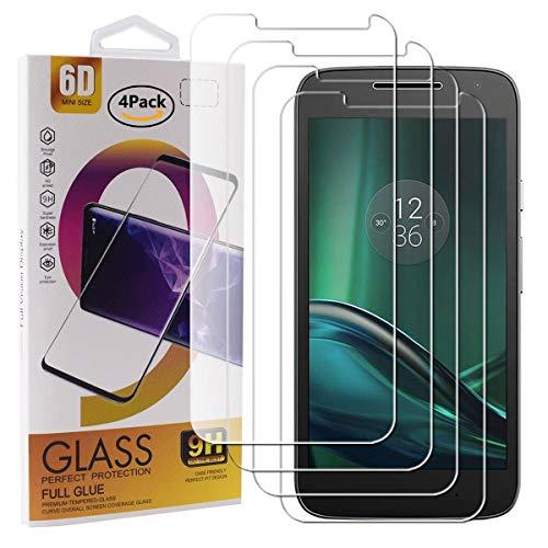 Guran 4 Paquete Cristal Templado Protector de Pantalla para Motorola Moto G4...