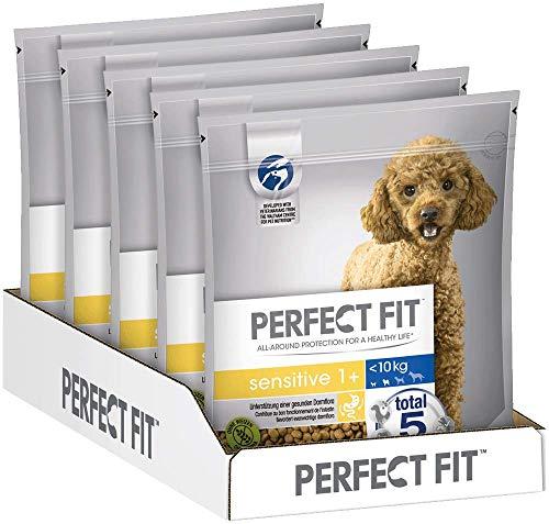 Perfect Fit Sensitive - Trockenfutter für kleine, erwachsene, sensible Hunde <10kg XS/S Reich an Truthahn, 5 Beutel (5 x 1,4kg)