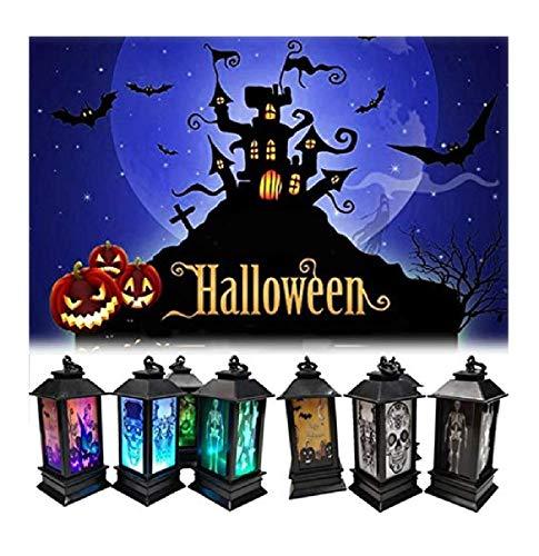 Halloween Lantaarn, led-decoratie, verlichting lamp, werkt op batterijen, voor tuinfeesten, binnen en buiten, 4 stuks pompoen