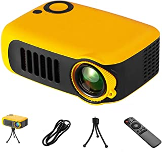 Mini Projector - Portable Smart Home Mobile Phone Projector Support HD 1080P Projection USB Mini Projector with Tripod and...
