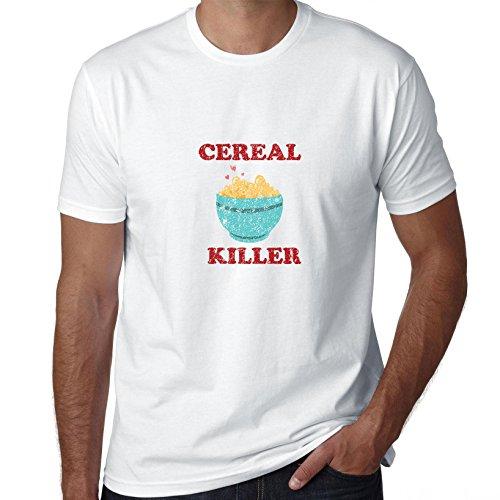 Granen moordenaar met kom van granen en lepel Hilarische spelen op woorden mannen T-Shirt