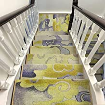 Stair Pads Carpets Self-adhesive Stair Carpet Pads Jacquard Staircase Mat Thicken Step Rug For Stair Treads (Color : Multi...