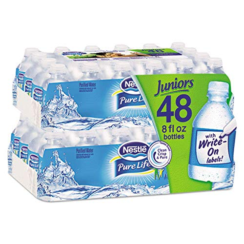 Nestle, 12256656P, Pure Life Purified Water, 8 oz Bottle, No Dep, 48/Carton, 2880/Pallet