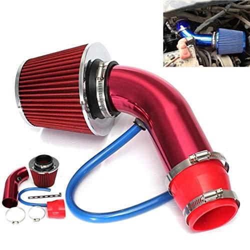 YEZHENGHUA Yzhua Coche Automóvil Racing Air Ingenio Filtro Alumimum Tube Power Flow Kit GM Car Racing Air Ingesha Filtro Tubería de Aluminio (Color : Red)