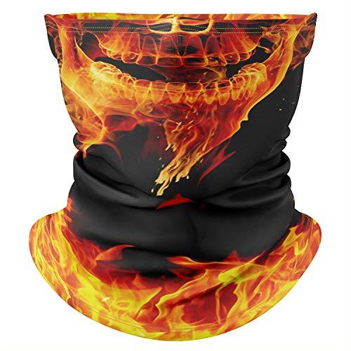 Multifunzione di alta qualità Sciarpa Passamontagna scialle teschio Zombie Halloween Fireskull [030]